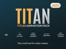 AE模板-200+时尚自适应大小字幕排版文字标题动画