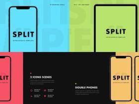 AE模板-手机样机拆分APP宣传片头 Split - App Promo