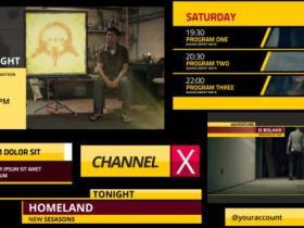 AE模板-电影视频标题电视栏目包装片头