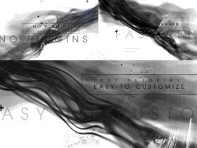 AE模板-抽象双重影黑白故障情感简介视频片头