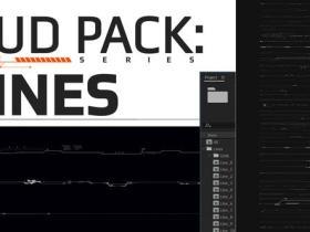 AE模板-科技感线条HUD数据点网格元素动画