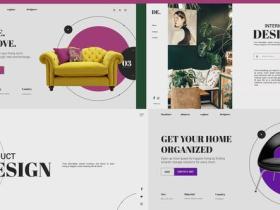 AE模板-设计感家具室内介绍图片展示动画