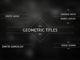 AE模板-几何线条错字排版文字标题动画