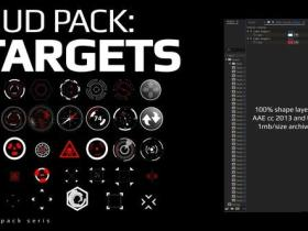 AE模板-科技感目标点动画 Hud Pack – Targets