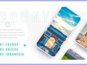 AE模板-简洁动态旅游APP手机展示动画