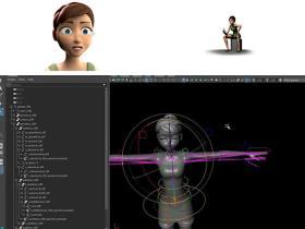 Maya人物角色完整Biped装备过程视频教程
