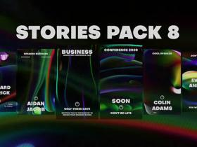 FCPX插件-创意设计流体背景竖屏INS包装动画