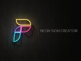 AE模板-时尚霓虹灯标题logo动画工具包