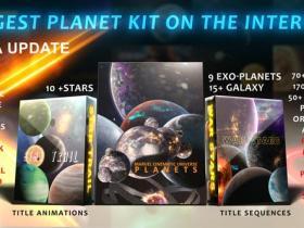 AE模板-三维浩瀚宇宙太空星云银河太阳系星球行星动画