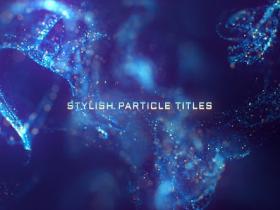 AE模板-梦幻奢华粒子背景文字标题开场 Stylish Particle Titles