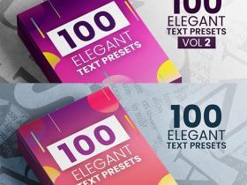 AE预设-两组200个优雅文本出入动画预设 Elegant Text Presets