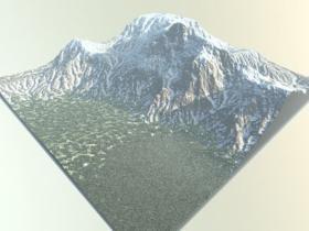 10组无缝8K自然地形深度贴图素材