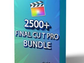 FCPX插件-2500+平移缩放视频转场文字标题LUTs调色音效素材大合集