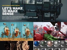 GSG灰猩猩C4D插件HDRI材质预设合集Cinema 4d R23-S24 WIN