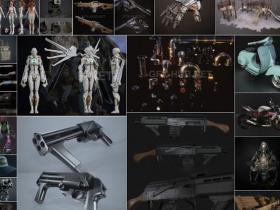 115种游戏3D模型含PBR纹理贴图