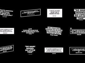 FCPX插件-4K文字语句引用文字标题字幕动画 Modern Quotes