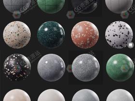 Poliigon出品81组6K高清石膏和水磨石PBR纹理贴图合集