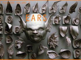 ZBrush 40个概念生物耳朵雕刻笔刷预设 EARS - 40 个 ZBrush VDM