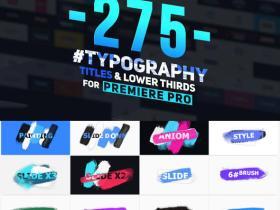 PR预设-275组文字标题排版设计字幕条动画预设