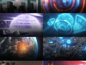 317组科幻飞船地球科技HUD武器设备特效合成透明背景视频素材