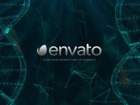 AE模板-科技感粒子生物DNA文字标题片头 DNA