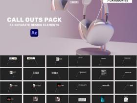 AE模板-68个指示线呼出局部放大文字标题标注动画 Design Call Outs Pack