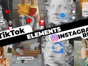 PR模板-时尚社交网络媒体抖音INS视频元素