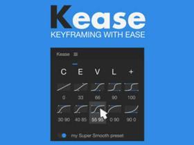 关键帧调节控制操作工具AE脚本 Kease v1.0.6 + 使用教程
