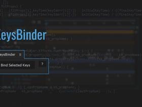 关键帧组合滑块整体控制AE脚本 KeysBinder v1.05
