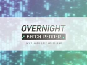 3DS MAX批量渲染插件 Overnight Batch Render 1.12 for 3ds Max 2015-2021