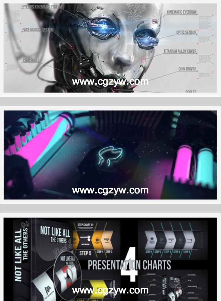 AE模板 VideoHive 高科技信息指示线