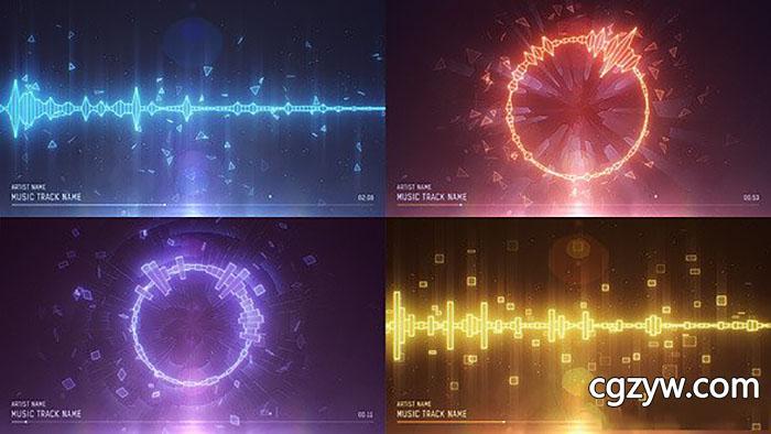 音乐跳动频谱电路图