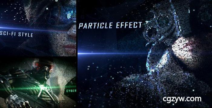 ae模板-高科技虚拟网络数字汇聚图片科幻游戏宣传片 digital form