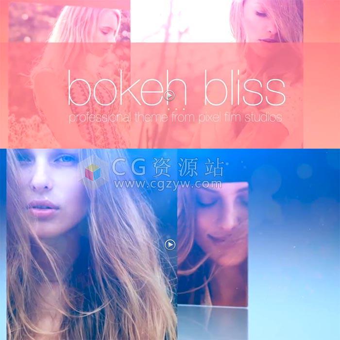 FCPX主题插件-唯美小清新时尚图文动画展示栏目包装 Bokeh Bliss