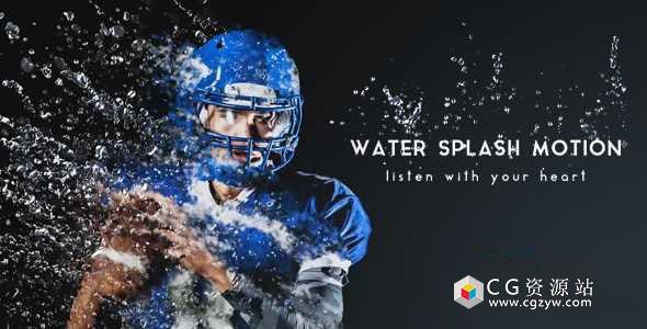 AE模板-Particular水滴液体流动粒子图片特效工具包 Water Splash Motion
