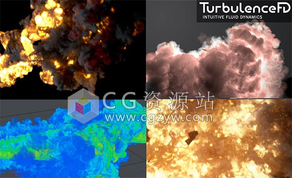 C4D流体模拟插件破解版 TurbulenceFD C4D v1.0 Build 1437 R20 Win