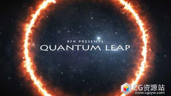 AE模板-电影预告星空能量粒子穿梭大气文字视频片头宣传片+背景音乐