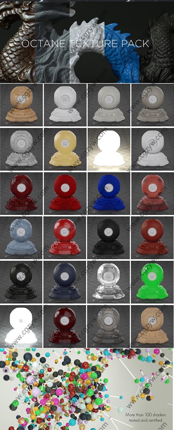 95组4K金属木纹矿物塑料纹理材质C4D Octane渲染器预设包