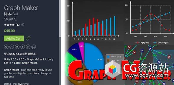 Unity3D图表柱状图折线图饼图插件 Graph Maker v1.5.8