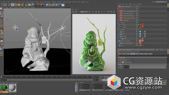 C4D精品教程-Xpresso表达式/RS渲染器/布料模拟/材质变形过渡Patreon Merkvilson C4D tutorials