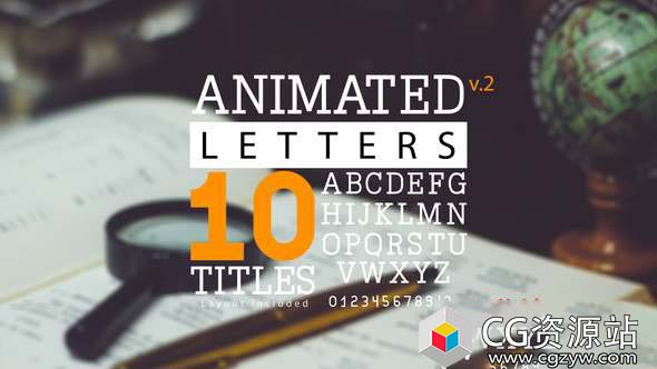AE模板-动画字母和10个标题布局文字书写动画 Animated Letters & 10 Titles Layout 2