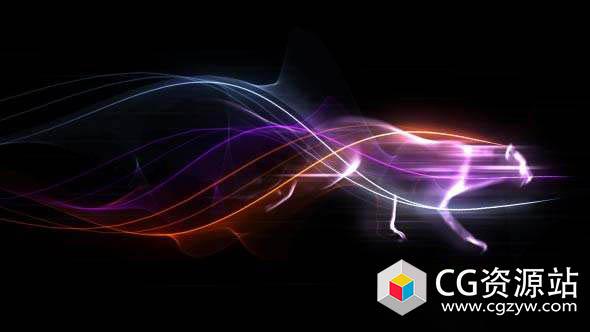AE模板-狮子粒子能量Logo动画 Colorful Trails Logo