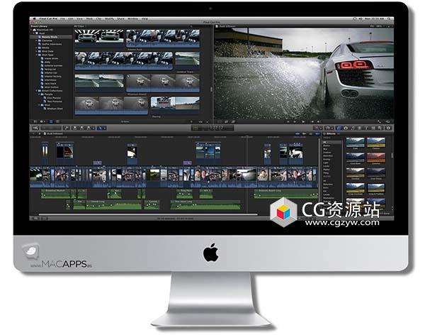 Apple Final Cut Pro X / FCPX v10.4.9 中文版/英文版/多语言破解版