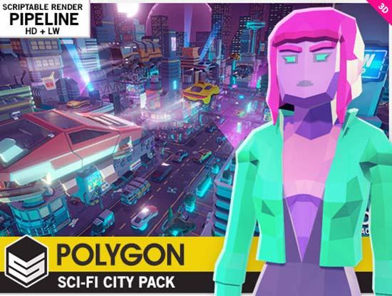 Unity低多边形科幻城市资源包POLYGON – Sci-Fi City Pack v1.18