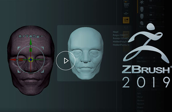 ZBrush 2019全面基础入门大师级教程含英文字幕