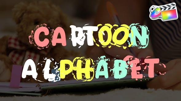FCPX插件-手绘卡通字母数字动画 Cartoon Alphabet