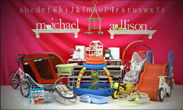 50个儿童用具玩具3D模型 Evermotion Archmodels vol 119