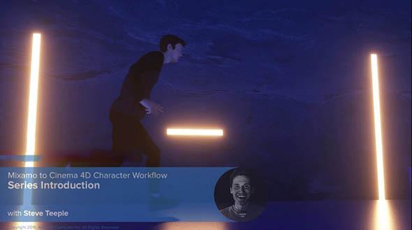 C4D中Mixamo自动骨骼角色动画视频教程