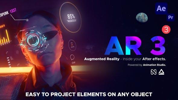AE脚本-500+AR预设发光描边图形标注Emoji元素工具包 AR Tools V3破解版