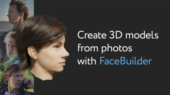 Blender根据图片制作面部模型插件 KeenTools FaceBuilder 2021 For Blender 2.80+ Win